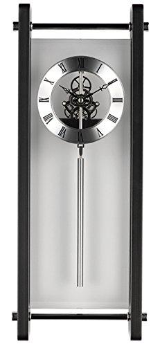Krippl-Watches Pendeluhr Glas, mit Quarz-Uhrwerk, Farbe:schwarz (Pendeluhren)