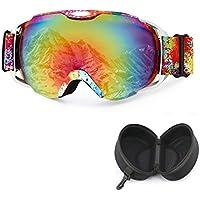 fee980c2c8e Unisex Gafas de esquí - TININNA Máscara y Gafas de Ski para el adulto Hombre  y Mujer Espejo ...