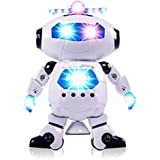 Electronic Robot Walking Singing Dancing Toy With Happy Music And Colorful Flashing Lights - 360° Body Spinning And Side Steps Robot Toy Gift For Boys And Girls (Dancing Robot)