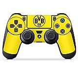 DeinDesign Sony Playstation 4 Controller Folie Skin Sticker aus Vinyl-Folie Aufkleber Borussia Dortmund BVB Logo Gelb