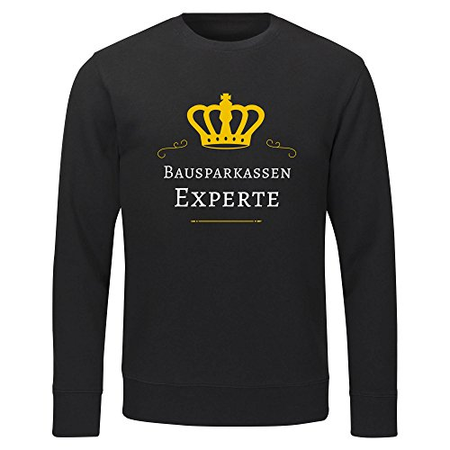 Multifanshop Sweatshirt Bausparkassen Experte schwarz Herren Gr. S bis 2XL - Lustig Witzig, Größe:XXL