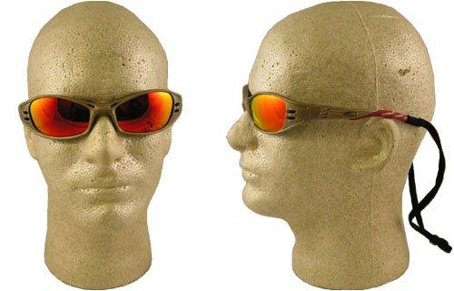 AO Sicherheit 247-11640-00000-10 Kraftstoff Schutzbrille Metallic Sand Brillen Rot Mirr -