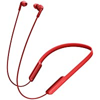 Sony MDR-XB70BT - Auriculares Bluetooth de contorno de cuello (EXTRA BASS, NFC, manos libres para Apple iPhone y Android, autonomía de 9 h), color rojo
