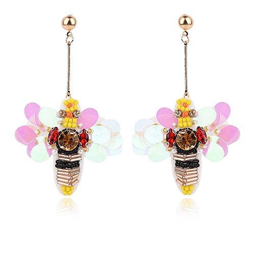 QIYUEQI Ms Ohr Nagel kleine Bee-Su Ohrringe minimalistischen Persönlichkeit Temperament Lange, Anhänger Schmuck Anhänger Ohr Ohr Ohr Schrauben