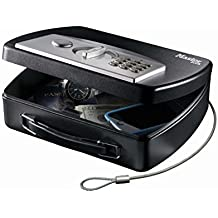 Small portable chest with electronic programmable code - Steel tethering cable by Master Lock