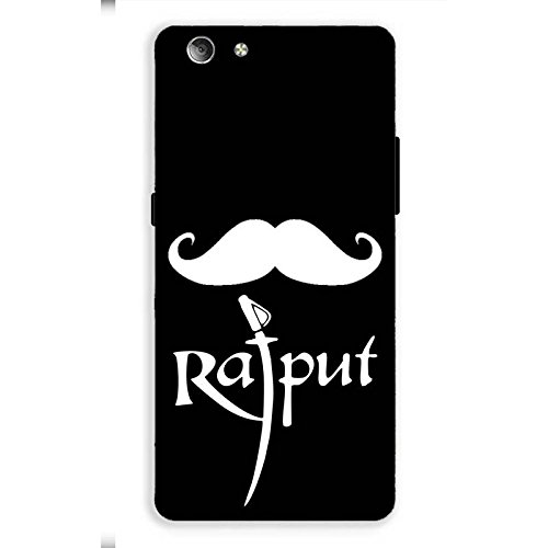 Red Hot gifts and more mobile phone back cover printed design hard plastic polycarbonate material case Design name Rajput Moustache For VIVO Y53