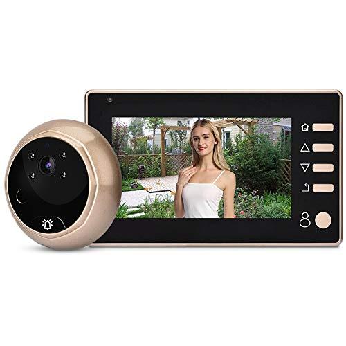 ASHATA Digitaler Türspion, 4.3 Zoll 1MP HD LCD Video Türkamera Digital Türspion-Kamera,Nachtsicht Viewer Foto Überwachungskamera Video Doorbell Kit für Türstärken von 40-110mm Lcd-digital-video