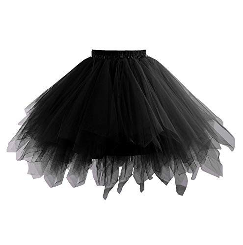 Changuan Frauen Vintage Kurze Petticoat Rock Ballett Bubble Tutu Mehrfarbige Pettiskirt Größe L/XL ()