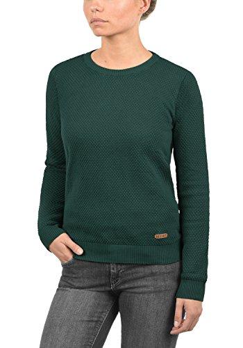 DESIRES Sarah Damen Strickpullover Feinstrick Pulli mit Rundhals-Ausschnitt aus 100% Baumwolle Ponderosa (3680)