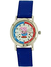 Peppa Pig Girl's - Boy's - Children's Time Teacher Watch With Buckle Strap PP008