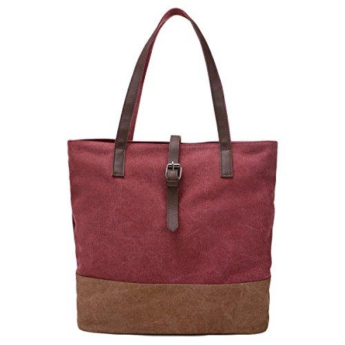 f7dad40533736 Segeltuchhefteschulterbeutel Einfache Beiläufige Handtaschenschulterbeutel  Retro Einfache Spielraumbeutel Red