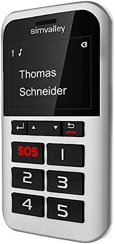 Simvalley Mobile 5 Tasten Notrufhandys: 5-Tasten-Handy Pico RX-902 mit Garantruf Premium, GPS (Seniorenhandy mit Garantruf) 902 Handy