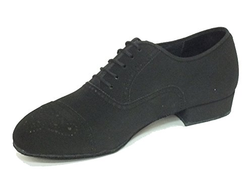 Vitiello Dance Shoes  291B Nabuk Nero t20 fondo crosta, Dance de salon homme Nabuk nero