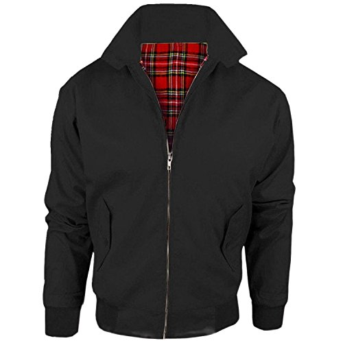 Kids Harrington Classic Bomber Boys Jacket With Tartan Lining Age 2-14 year