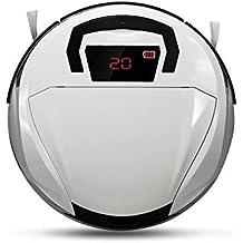 FD-2RSW(B) Aspiradora inteligente, Robot aspiradora para pisos, Robot barredor inalámbrico con ponderosa aspiradora casera robótica. Blanco