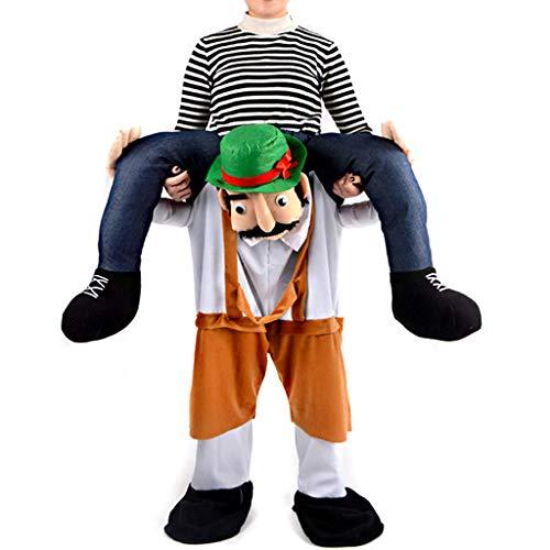 fasloyu Piggyback Kostüme – Unisex Lustige Kostüme – Ride On Kostüm – Carry Me Kostüm – Reitschulter ()
