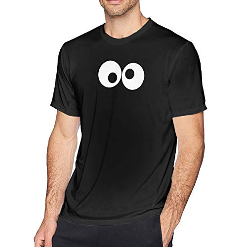 Fomente Cookie Monster Herren Klassisch T Shirt Black 6XL - Monster-pyjama Herren-cookie