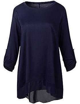 Targogo Blusas De Mujer Elegantes De Fiesta Tops Manga Larga Cuello Redondo Anchos T Shirt Primavera Otoño Camisetas...