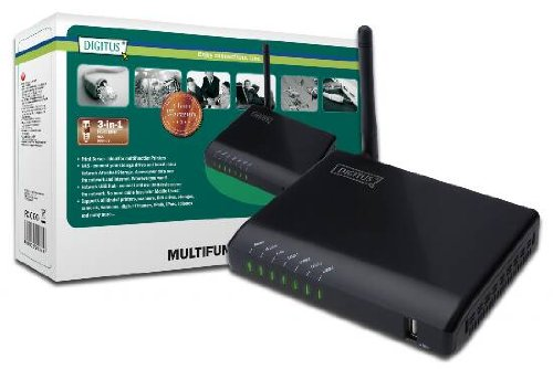 DIGITUS Wireless Multifunction Network Server (4-port, USB 2.0)