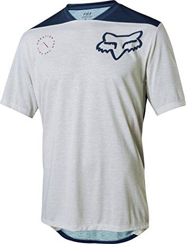 FOX Indicator Ss Asym Jersey, Grau, Größe S (Gesichter, Weiches T-shirt Klassische)