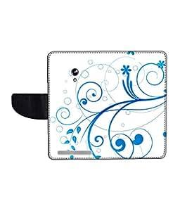 KolorEdge Printed Flip Cover For Asus Zenfone 4 A450CG Multicolor -(45KeMLogo12393Zen4A450CG)