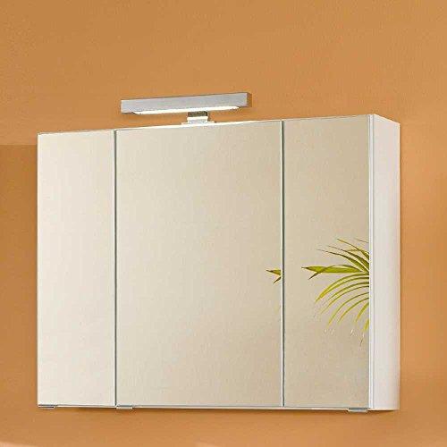 #Badezimmer Spiegelschrank in Weiß 3D Breite 80 cm Pharao24#