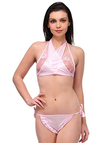 OLEVA Casual Set of 2 Lingerie Set OLG_BP8_LightPink  available at amazon for Rs.399