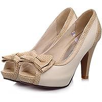 Onfly New Bottes de pluie des femmes de mode dames chaussures d'eau antidérapante fermeture à glissière bottes d'eau bloc talon bas dames glisser sur des bottes eu size (Couleur : B, Taille : 39)