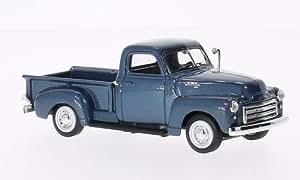GMC Pick Up, metallic-bleu, 1950, voiture miniature, Miniature déjà montée, Lucky - Cast 1:43