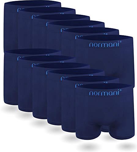 normani 6 oder 12 Mikrofaser-Unterhosen für Herren | atmungsaktive Sport-Funktions-Unterwäsche | Boxershorts | Retroshorts für Männer [Gr. S-3XL] Farbe 12 x Blau Größe XXL/3XL
