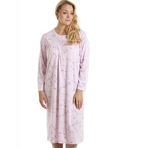 Chemise de nuit classique à manches longues - imprimé floral - rose/violet Rose