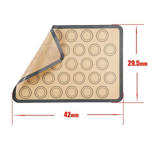 Labewin antiaderenti tappetini da forno in silicone antiaderente di alta qualit/à flessibili facili da pulire riutilizzabili