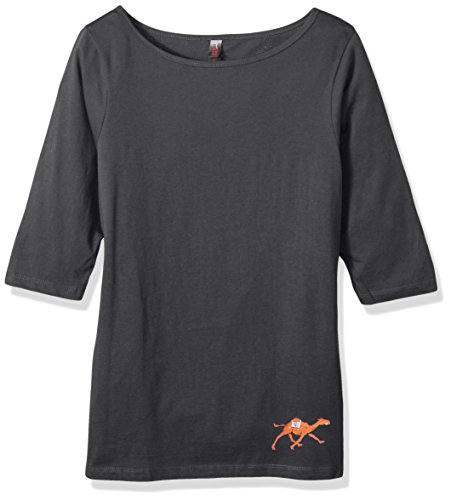 NCAA Campbell Fighting Camels Damen T-Shirt, 3/4-Ärmel, Schwarz, Größe XXL, Damen, Ladies 3/4 Sleeve Tee, anthrazit, Size 4X (Damen 4 ärmel T-shirts 3)