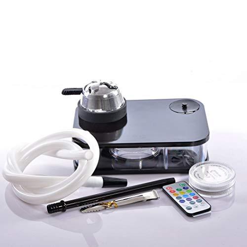Monllack Portable Acrylic Arab Hookah Set Durable Heating Control Hookah Shisha Bowl Silicone Pipe Gifts
