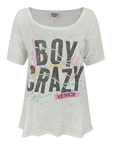 Damen - Junk Food Clothing - Boy Crazy - T-Shirt (M) (T-shirts Food Junk Kids)