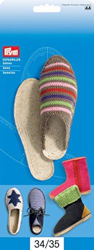 Prym Love 975099 Sohlen für Espadrilles, Boots und Sneaker in Größe 34/35