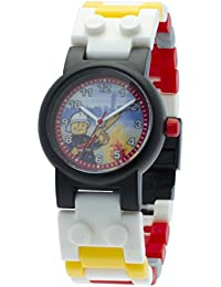 Lego - 9003448 - Fireman City - Coffret Cadeau - Montre Enfant - Quartz Analogique - Cadran Multicolore - Bracelet Plastique + Figurine