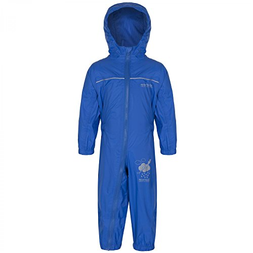 Regatta Great Outdoors Childrens Toddlers Puddle IV Waterproof Rainsuit (60-72m) (Oxford Blue)