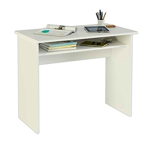 Meka-Block K-9465B - Schreibtisch, 90 cm breit, Farbe: weiß.