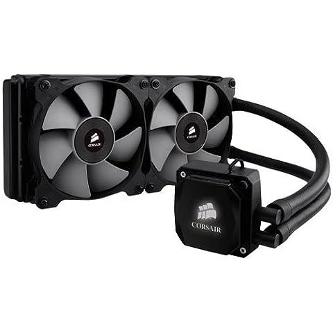 Corsair Hydro H100i - Sistema de refrigeración líquida para CPU, color negro