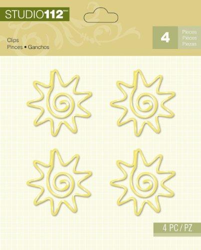 Unbekannt K&Company Studio 112 Clips für Scrapbooking Yellow Sun