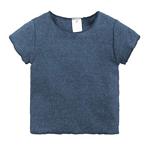 Hongyuangl Hongyuangl Kleinkind Baby Mädchen Jungen Kinder Grundlegende Plain Kurzarm Baumwolle T Shirts Tops Sommerkleidung