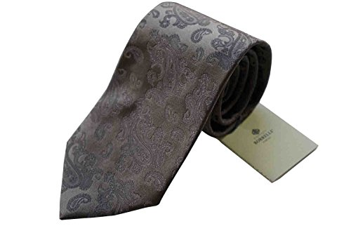 luigi-borrelli-napoli-italy-mens-tie-brown-pattern-100-silk