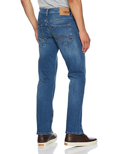MUSTANG Herren Boot-Cut Bootcut Jeans Oregon Boot Blau (Medium Bleach 312)