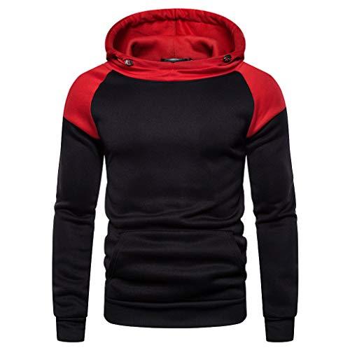 Camo Fleece Pullover Hooded Sweatshirt (Elecenty Pullover Men Autumn Long Ärmel Patchwork Hoodie Hooded Sweatshirt Oben Tee Outwear Blouse)