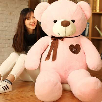 XXCKA Umarmung Bär Puppe Teddybär Puppe Panda Süßes Mädchen Plüschtier Schlafen Halten Big Bear 40 cm Rosa 1 STK (Stofftier Big Bear)