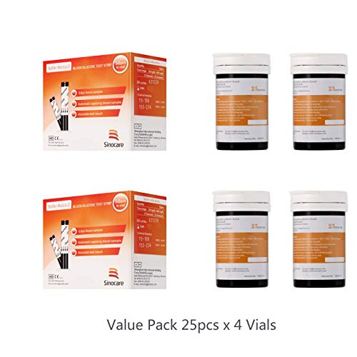 Sinocare Diabetes Blood Glucose Sugar Test/Testing Strips 100pcs for Safe Accu 2