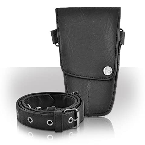 Roo Beauty Hairdressing Pouch, Scissor Holster with Belt, Hair Kit Accessories in Pod Black