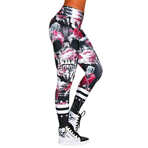 mxjeeio Damen hohe Taille Yoga Hose Damen Freizeit Yoga Hose Sport Leggins Yoga Hosen Fitness Traininghose Sporthose Workout Drucken Hohe Taille Sportswear