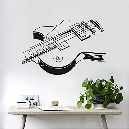 Lvabc E-Gitarre Wandaufkleber 3D Pvc Kreative Gitarre Wandaufkleber Wohnzimmer Das Schlafzimmer Verziert Wohnkultur 59X38 Cm